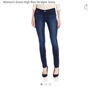 DL1961 Grace high rise straight jeans.